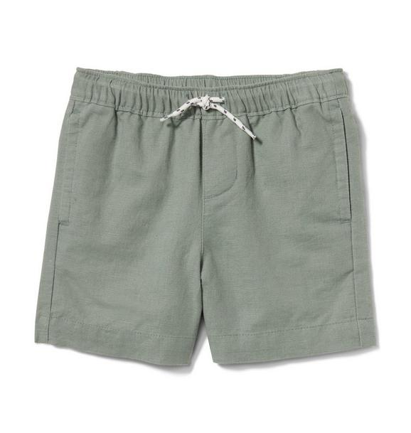 Linen Pull On Short