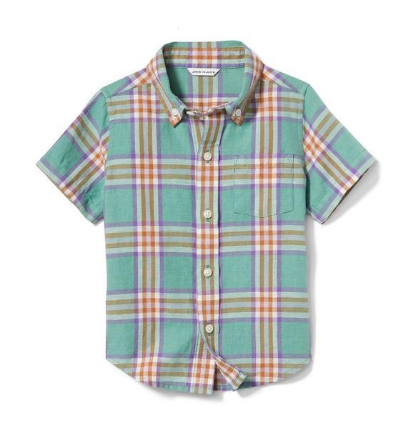 Linen Plaid Shirt
