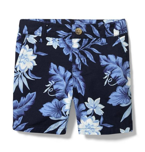 Tropical Floral Poplin Short
