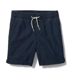 Textured Pull-On Short