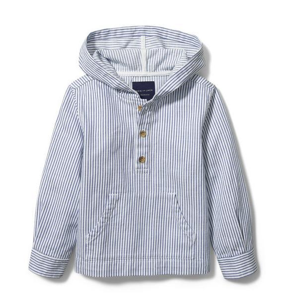 Hooded Twill Sweatshirt