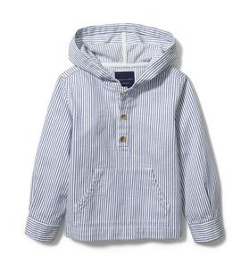 Hooded Twill Pullover