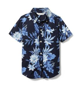 Tropical Floral Poplin Shirt