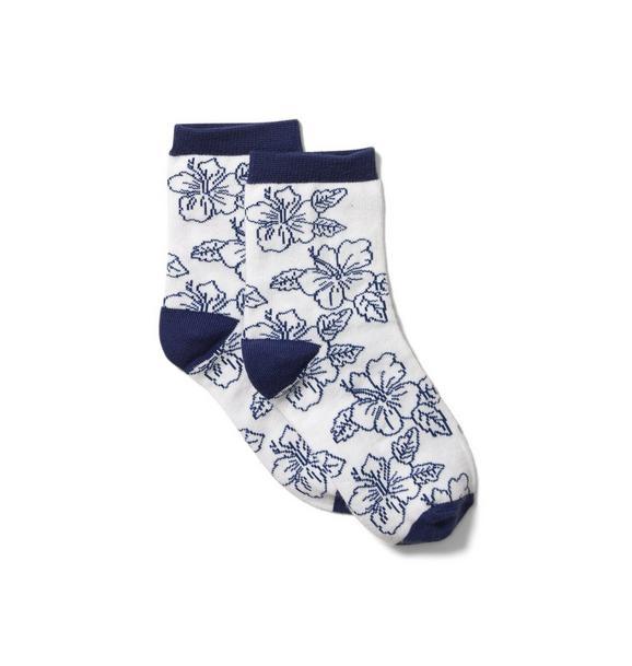 Hibiscus Floral Sock