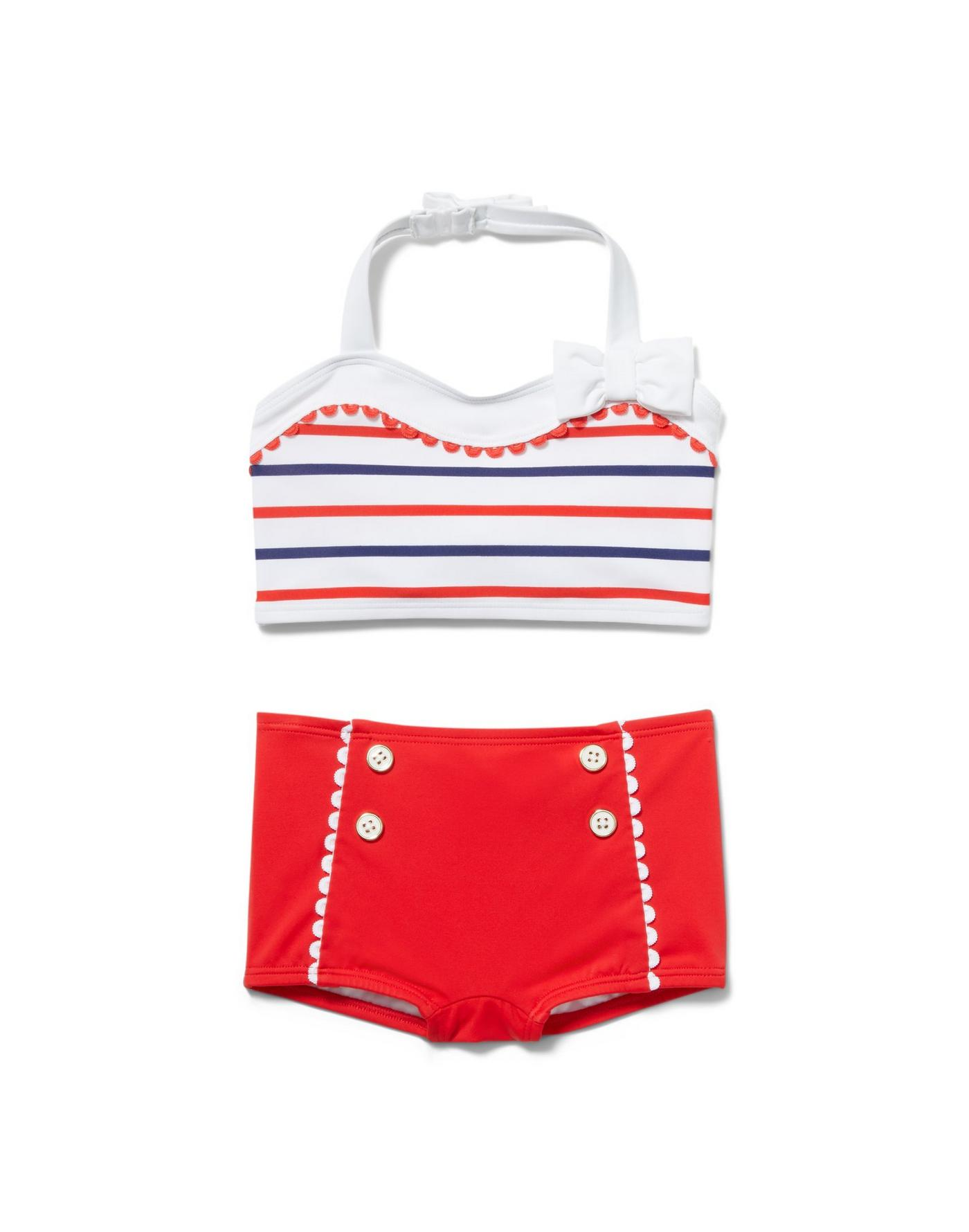 Striped 2-Piece Swimsuit
