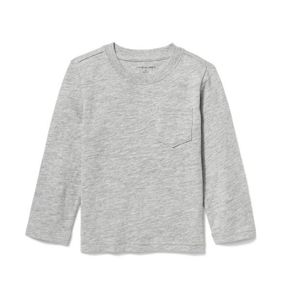 Long Sleeve Slub Pocket Tee