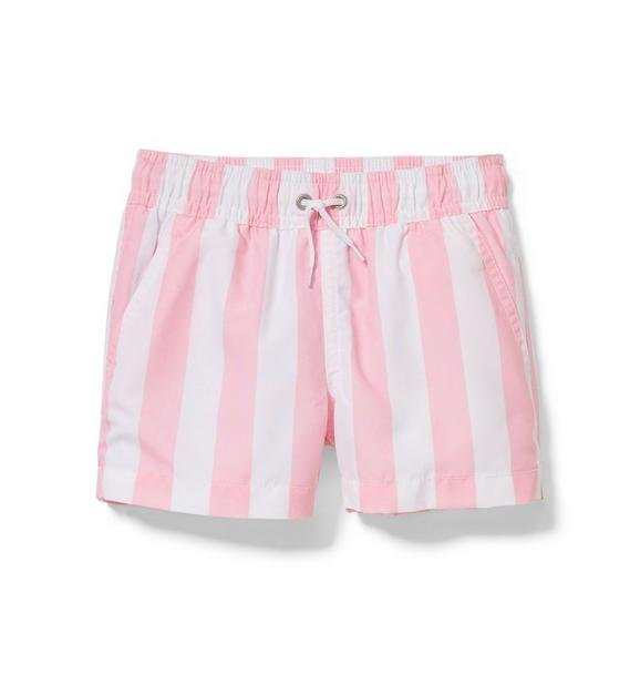 Pink Striped Swim Trunk