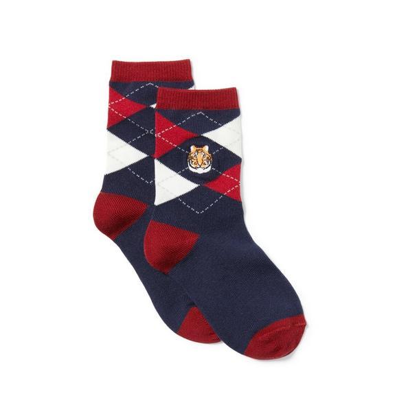 Tiger Argyle Sock