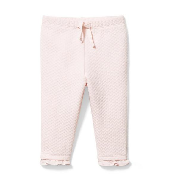 Baby Quilted Ruffle Hem Pant
