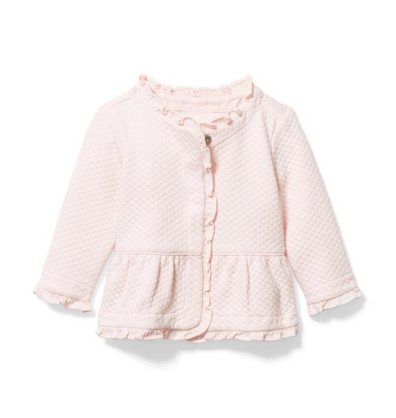 Baby Quilted Peplum Cardigan