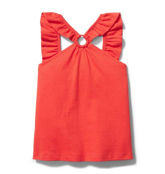 Ruffle Halter Ring Top
