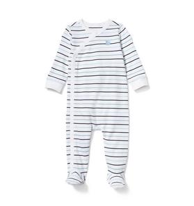 Baby Striped Footed 1-Piece