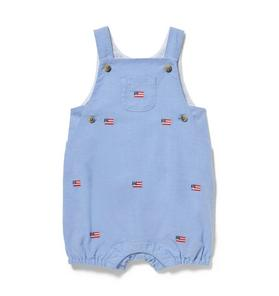 Embroidered Oxford Shortall