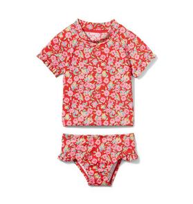Ditsy Floral Rash Guard Set