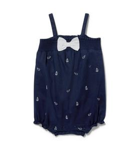 Baby Sailboat & Whale Romper
