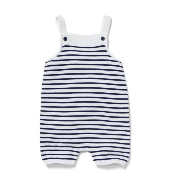 Baby Striped Knit Shortall