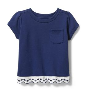 Eyelet French Terry Tee