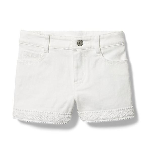 Crochet Denim Short