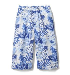 Tropical Floral Wide Leg Pant