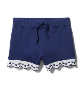 Eyelet French Terry Short
