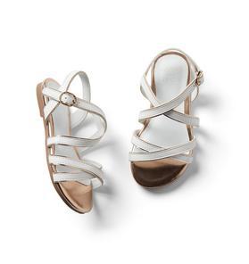Metallic Trim Strap Sandal