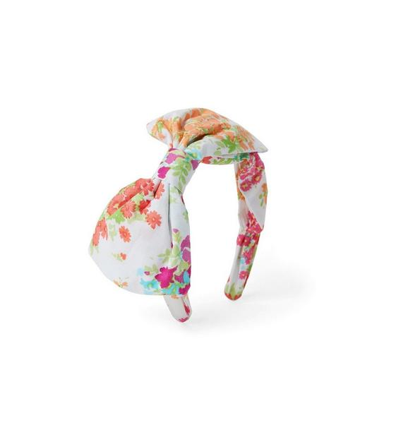 Janie and Jack Floral Bow Headband