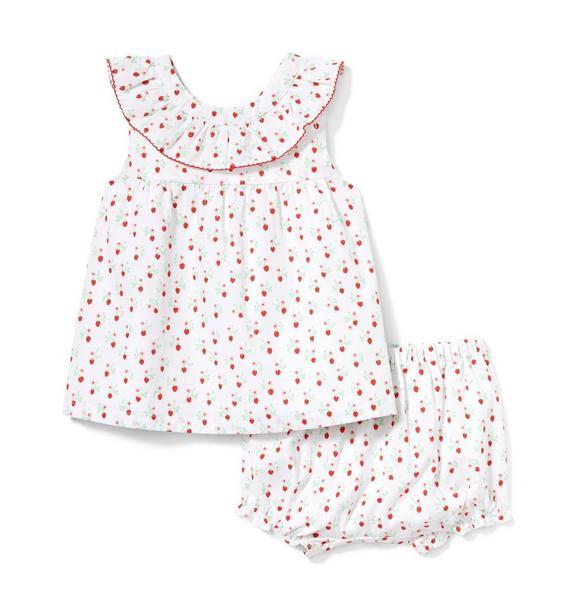 Baby Strawberry Ditsy Matching Set