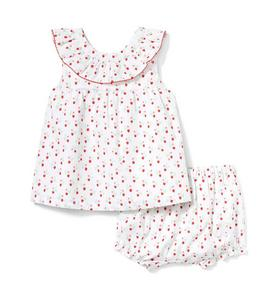 Baby Strawberry Ditsy Matching Set