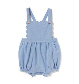 Baby Strawberry Button Romper