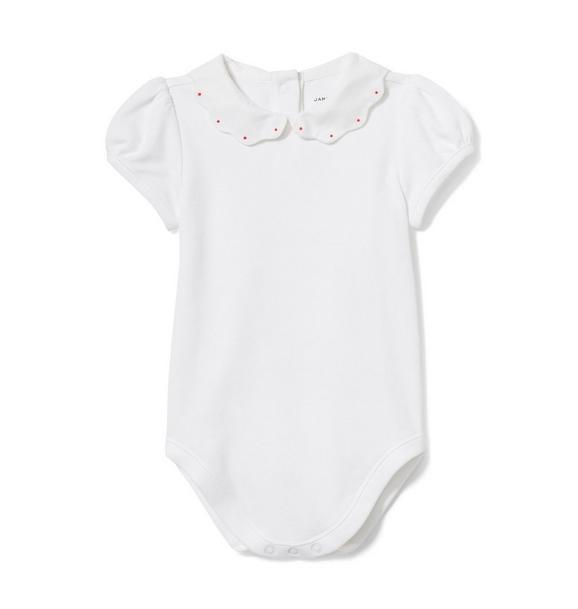 Baby Scalloped Collar Bodysuit