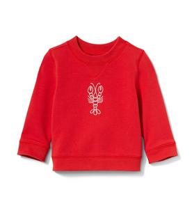 Janie and Jack Baby Lobster Sweatshirt