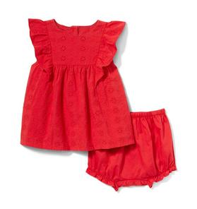 Baby Eyelet Strawberry Set