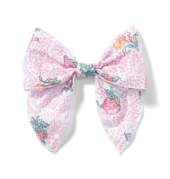 Floral Bow Barrette