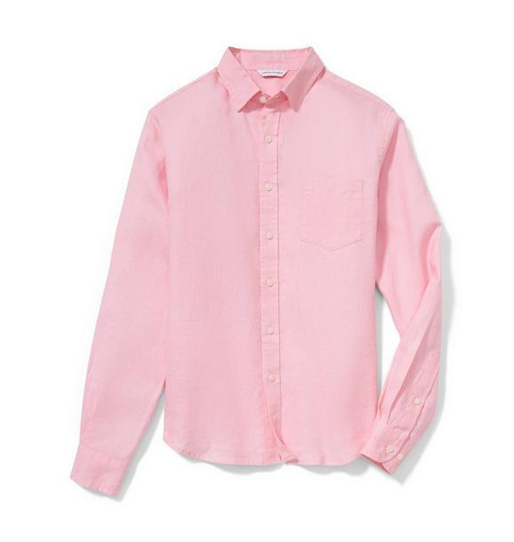 Pink Men's Linen Shirt