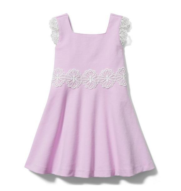 Lace Trim Ponte Dress