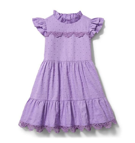 Swiss Dot Ruffle Dress