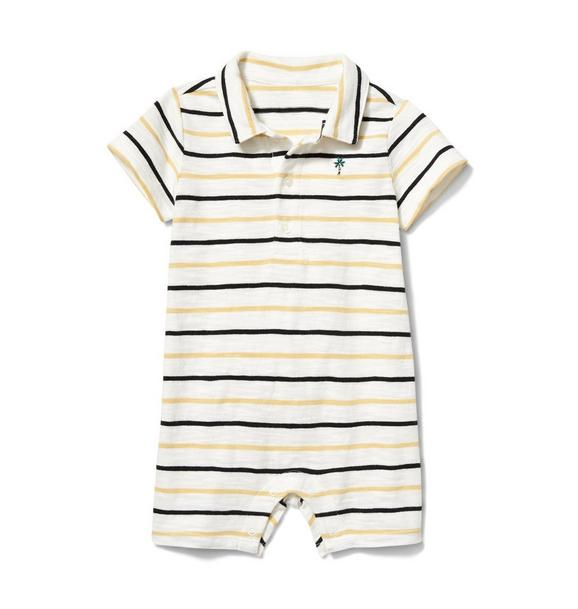 Baby Striped Polo 1-Piece
