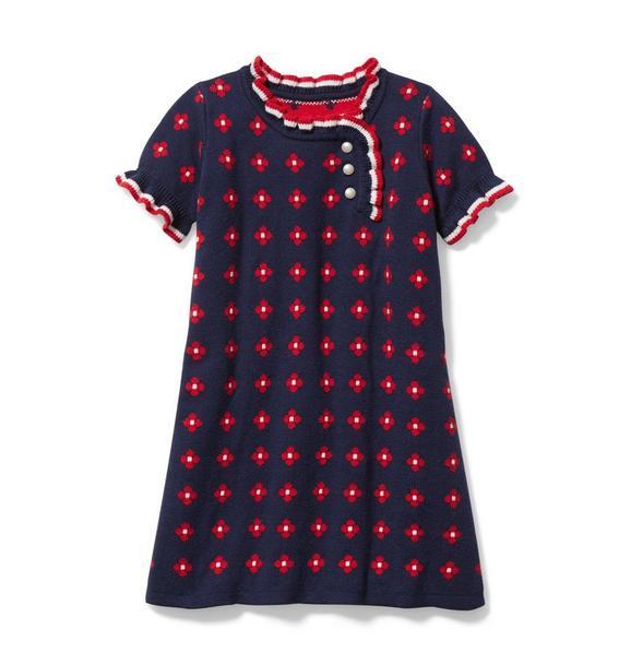 Geo Floral Sweater Dress
