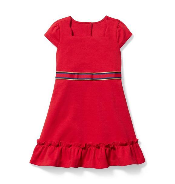 Ruffle Hem Ponte Dress