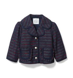 Bouclé Ruffle Pocket Jacket