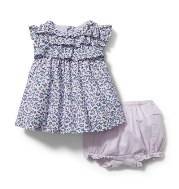 Baby Floral Ruffle Matching Set