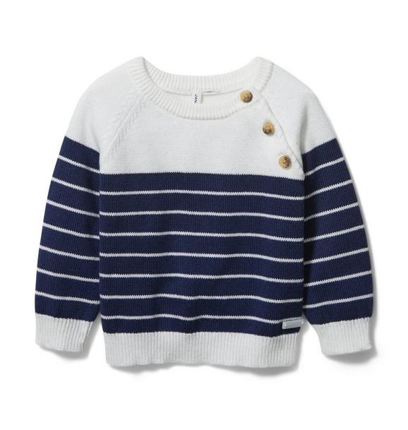 Baby Striped Raglan Sweater