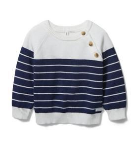 Baby Striped Raglan Sweater