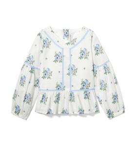 Floral Swiss Dot Top
