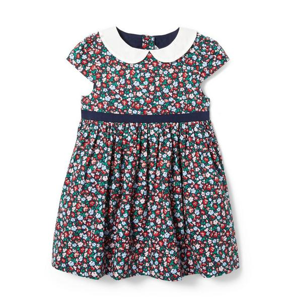Baby Floral Collared Dress
