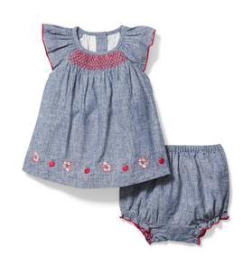 Baby Smocked Matching Set