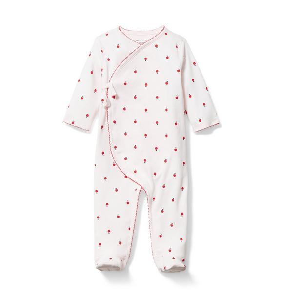 Baby Cherry Kimono Footed 1-Piece