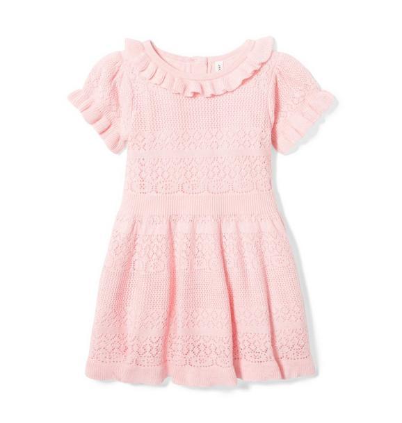 Baby Ruffle Sweater Dress