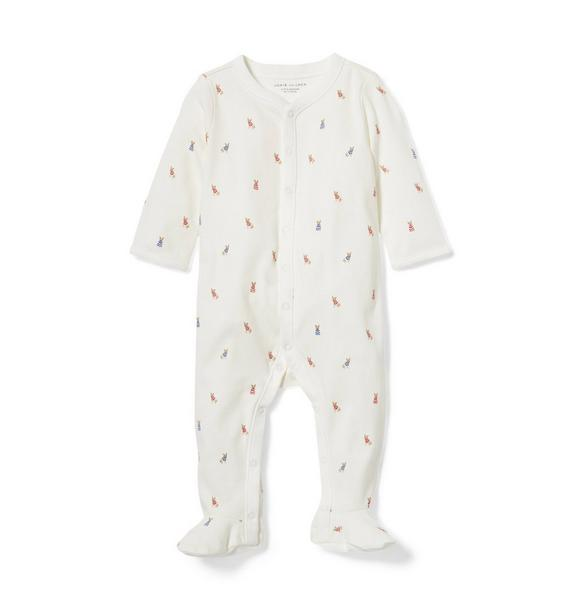 Baby Frenchie Footed 1-Piece