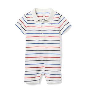 Baby Striped Polo 1-Piece